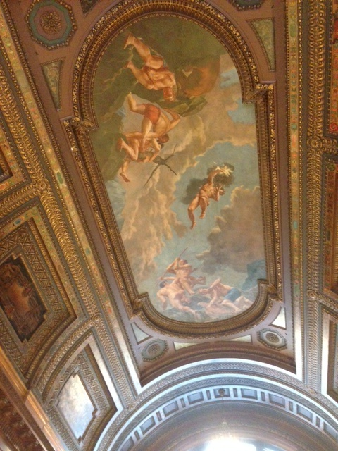 NYPL Rose Reading Room ceiling mural