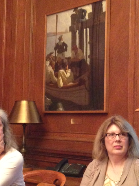 Wyeth painting in NPYL Director of Research Libraries office