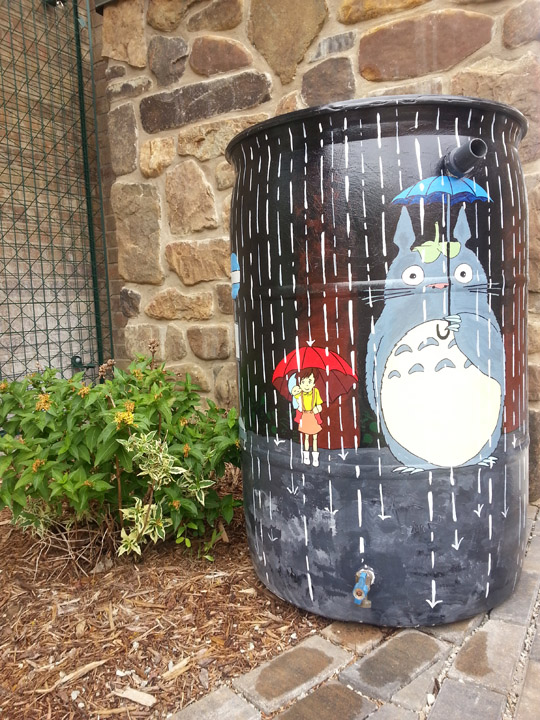 Paint your own rain barrel festival mpl for How to make your own rain barrel system